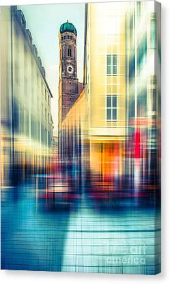 Frauenkirche - Munich V - Vintage Canvas Print by Hannes Cmarits