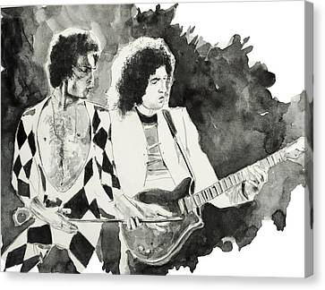 Freddie And Brian May Canvas Print by Bekim Art