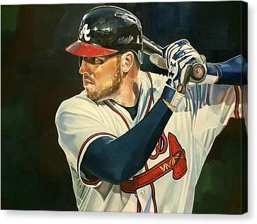 Freddie Freeman Canvas Print by Michael  Pattison