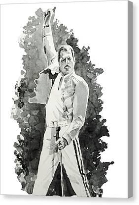 Freddie Mercury 2 Canvas Print by Bekim Art