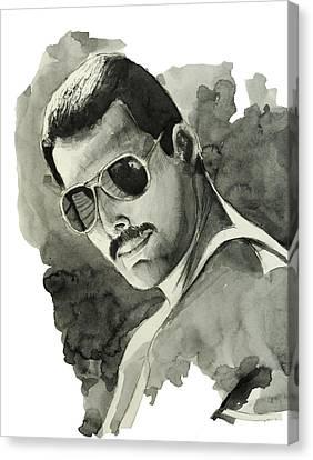 Freddie Mercury 5 Canvas Print by Bekim Art
