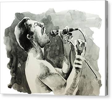 Freddie Mercury 8 Canvas Print by Bekim Art