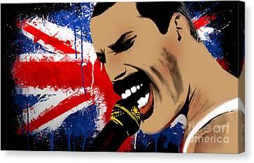 Freddie Mercury Canvas Print by Mark Ashkenazi