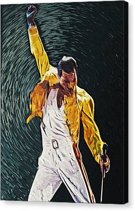 Freddie Mercury Canvas Print by Taylan Apukovska