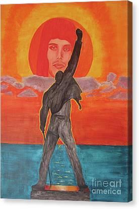 Freddy Mercury Queen Canvas Print by Jeepee Aero