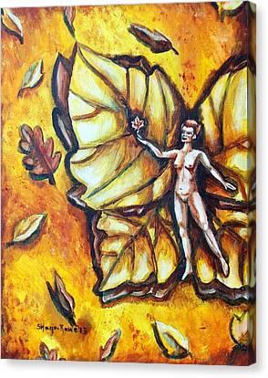 Free As Autumn Leaves Canvas Print by Shana Rowe Jackson
