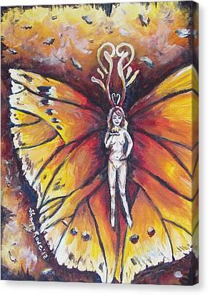 Free As The Flame Canvas Print by Shana Rowe Jackson