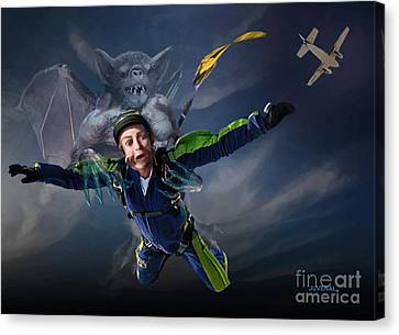Free Fall Into Darkness Canvas Print by Joseph Juvenal