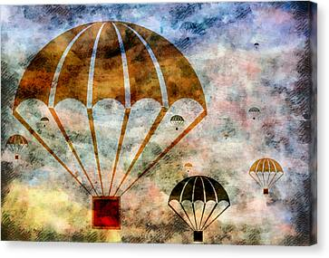 Free Falling Canvas Print by Angelina Vick