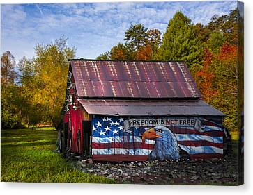 Freedom Is Not Free Canvas Print by Debra and Dave Vanderlaan
