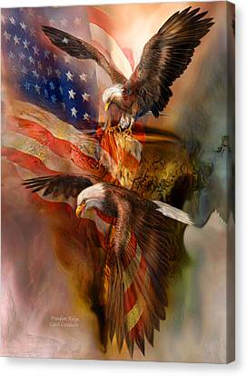 Freedom Ridge Canvas Print by Carol Cavalaris
