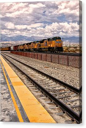 Freight Expectations Palm Springs Canvas Print by William Dey