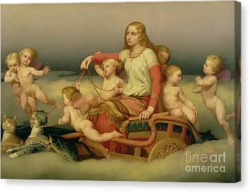 Freja Seeking Her Husband Canvas Print by Nils Blommer