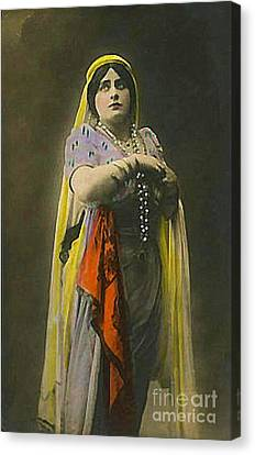 French Actress In Lakme Canvas Print by Dwight Goss