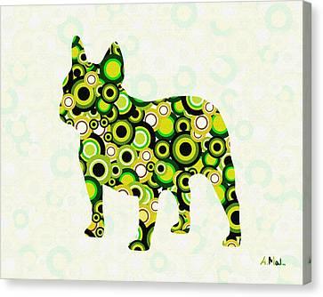 French Bulldog - Animal Art Canvas Print by Anastasiya Malakhova
