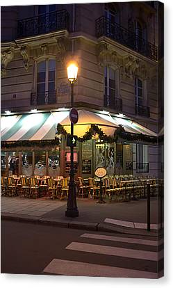 French Cafe Canvas Print by Art Block Collections