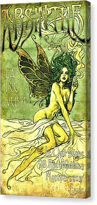 French Cafe Poster C1885 Canvas Print by Padre Art