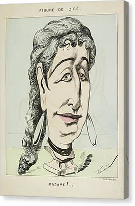 French Caricature- Figure De Cire: Madame Canvas Print by British Library