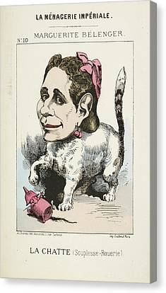 French Caricature - La Chatte Canvas Print by British Library