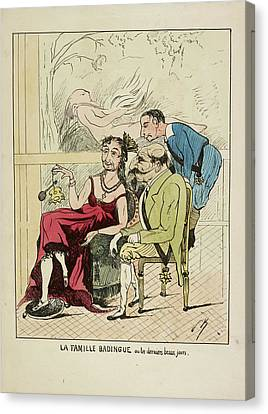 French Caricature - La Famille Badingue Canvas Print by British Library