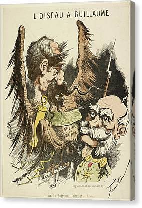 French Caricature - L'oiseau A Guillaume Canvas Print by British Library