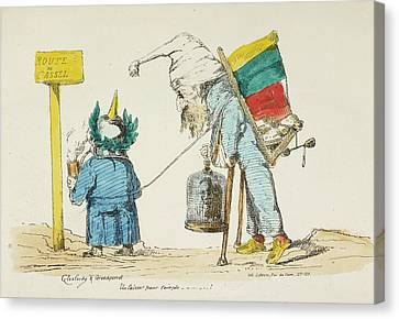 French Caricature - Route De Cassel Canvas Print by British Library
