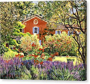 French Countryside House Canvas Print by David Lloyd Glover