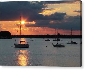 French Creek Bay Sunset Canvas Print by Lori Deiter