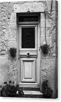 French Door In Mono Canvas Print by Georgia Fowler