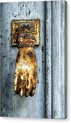 French Door Knocker Canvas Print by Georgia Fowler