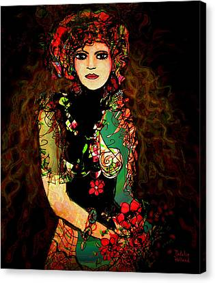French Girl Canvas Print by Natalie Holland