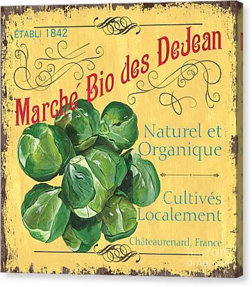 French Market Sign 1 Canvas Print by Debbie DeWitt