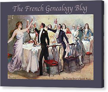French New Year With Fgb Border Canvas Print by A Morddel