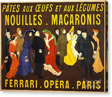 French Pasta Advertisement 1901 Canvas Print by Padre Art