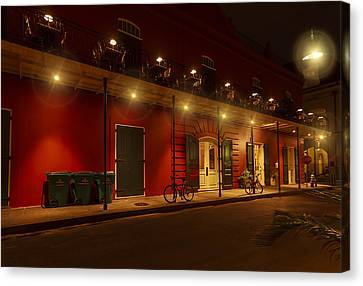French Quarter In Red Canvas Print by Stellina Giannitsi
