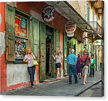 French Quarter - People Watching Canvas Print by Steve Harrington