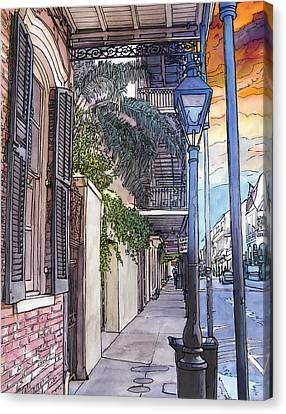 French Quarter Sidewalk 443 Canvas Print by John Boles