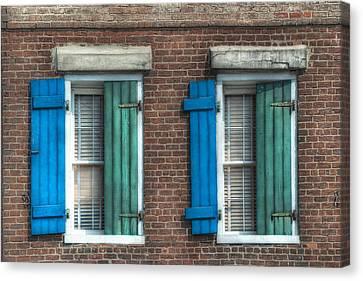 French Quarter Windows Canvas Print by Brenda Bryant