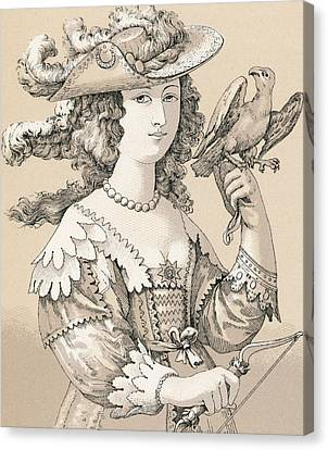 French Seventeenth Century Costume Canvas Print by French School
