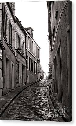 French Street Canvas Print by Olivier Le Queinec