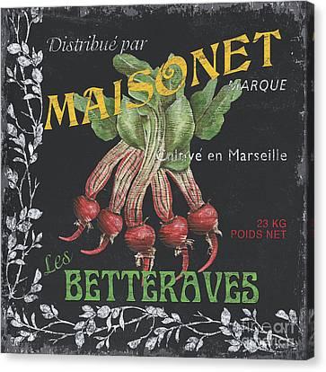 French Veggie Labels 2 Canvas Print by Debbie DeWitt