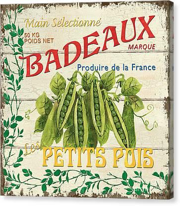 French Veggie Sign 1 Canvas Print by Debbie DeWitt