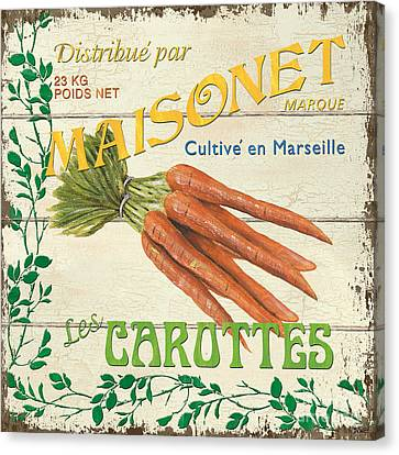 French Veggie Sign 2 Canvas Print by Debbie DeWitt