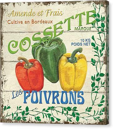 French Veggie Sign 4 Canvas Print by Debbie DeWitt