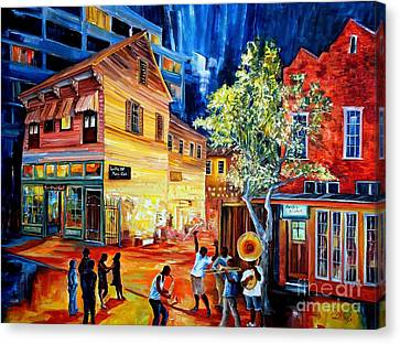 Frenchmen Street Funk Canvas Print by Diane Millsap