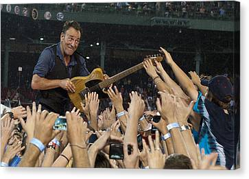 Frenzy At Fenway Canvas Print by Jeff Ross