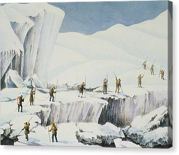 Frequent Appearance Of The Ice Canvas Print by English School