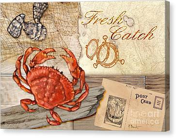 Fresh Catch Dungeness Crab Canvas Print by Paul Brent