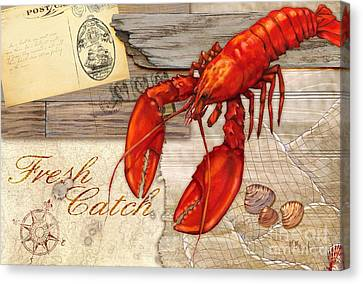 Fresh Catch Lobster Canvas Print by Paul Brent