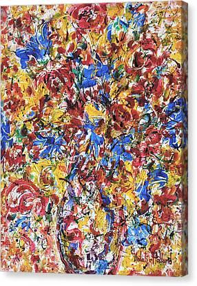 Fresh Flower Bouquet Canvas Print by Natalie Holland